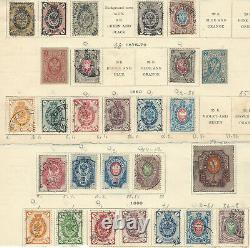 RARE 1800's RUSSIA STAMP LOT ON PARTIAL ALBUM PAGES