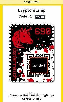 RED CRYPTO STAMP newithmint RAR 5-DIGIT-CODE ROTE ungestempelt/neu 5-stellig