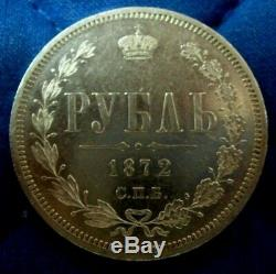 RUSSIA ROUBLES 1846 + 1872 coins was printed by mint using PROOF stamp! RARE