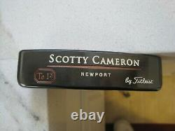 SCOTTY CAMERON Tel3 NEWPORT SOLE STAMP PUTTER, MINT CONDITION