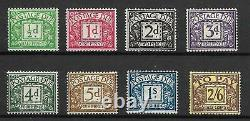 Sg D27 D34 1937-38 George VI Full set of Postage Dues UNMOUNTED MINT/MNH
