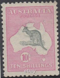 Stamp 10/- Kangaroo 1st watermark in very fine well centred MH condition, scarce