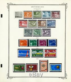 Switzerland Rather Complete 1900 to 1970s Mint & Used Stamp Collection
