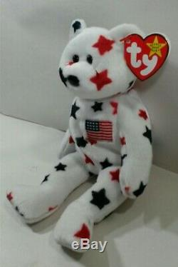 TY BEANIE BABIES BABY Glory The Bear 1997 RAREVintageRed Stamp Mint WT
