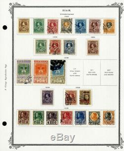 Thailand Incredible 1883 to 1940 Mint & Used Stamp Collection