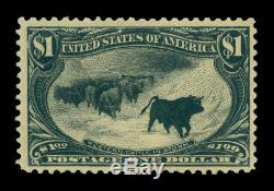 US 1898 Cattle in Storm $1 black Scott # 292 mint MNH VF stamp