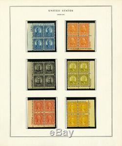 US 1914 to 1930s Mint Mostly NH Plate Block Stamp Collection