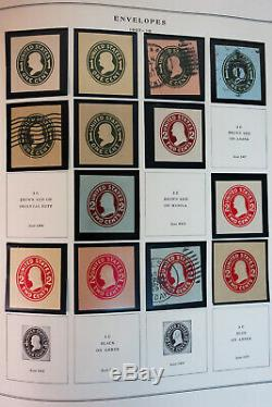 US Mostly Mint 1800s to 1990s Cut Square Stamp Collection
