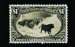 US Stamp Mint OG & NH, RARE-Museum Super b S#292 Very large margins all around