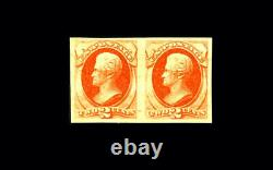 US Stamp Mint Original Gum Hinged, XF S#178a Rare pair-APS Certificate from 1937
