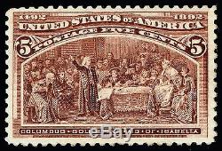 US Stamp SC# 234 Mint OG NH 5c 1893 Columbian Exposition Issue (perf. 12)