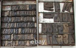 Vintage 700+ COUNTRY GENERAL STORE LETTER STAMP PRINT BLOCK LOT ADVERTISING SIGN
