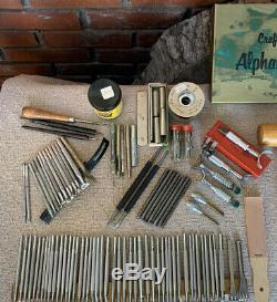 Vintage Craftool Leather Embossing Stamps and Tools Lot of 125 + Estate Pieces