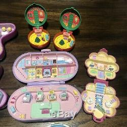 Vintage Polly Pocket Lot 80s 90s Zoo Cafe Chapel School Stamp Fairy 15 Figures
