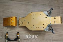 Vintage RC10 Parts Lot with A&L Rear Susp. Light Gold A Stamp Chassis, Shocks