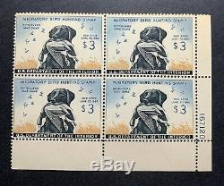 WTDstamps #RW26 1959 Plate# Block US Federal Duck Stamp Mint OG NH