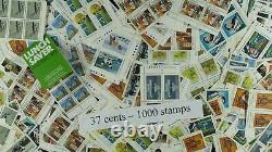 Weeda Canada Postage Lot of 1000 x 37c stamps, mostly NH, $370 Face Value